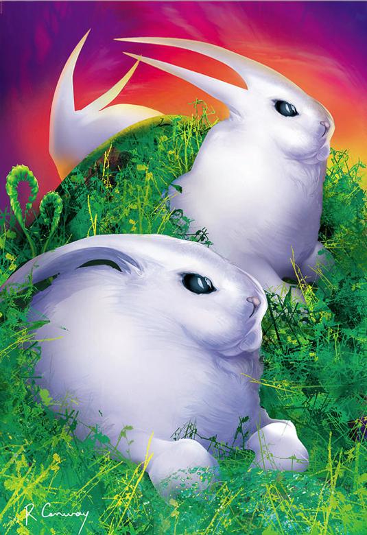 bunnies-digital-illustration-grass