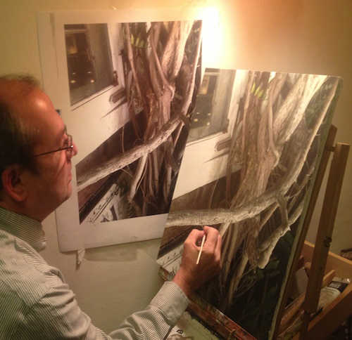 robert conway artist at work