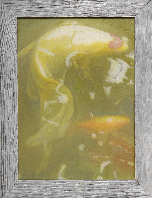 white fish artwork acrylic